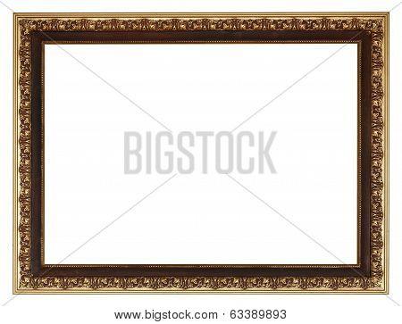 Wide Golden Gilted Vintage Wooden Picture Frame