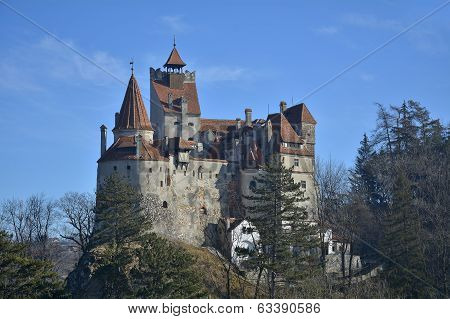 The Medieval Castle Of Bran. It Is Known For The Myth Of Dracula.