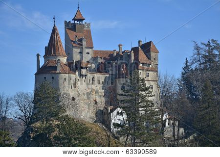 The Medieval Castle Of Bran. It Is Known For The Myth Of Dracula