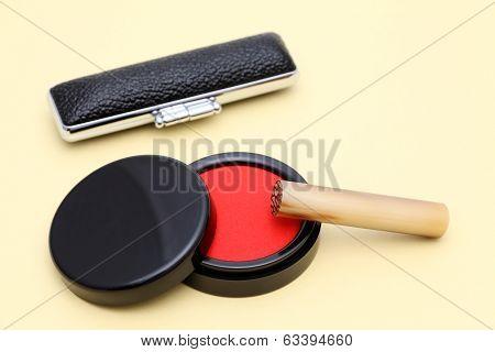 Japanese hanko and inkpad