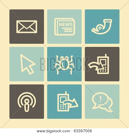 Internet web icons, buttons set