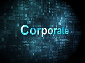 Finance concept: Corporate on digital background