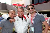 LOS ANGELES - APR 12:  Bryton James, Eric Braeden, Daniel Goddard at the Long Beach Grand Prix Pro/C