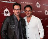 LOS ANGELES - APR 13:  Lawrence Zarian, Gregory Zarian at the John Varvatos 11th Annual Stuart House