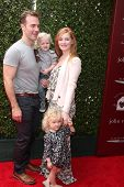 LOS ANGELES - APR 13:  James Van Der Beek, Joshua, Olivia, & Kimberly Van Der Beek at the John Varva