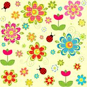 Spring seamless pattern. Raster copy
