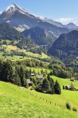 picture of chalet  - Gorgeous weather in the vicinity of  ski resort of Leysin in the Swiss Alps - JPG