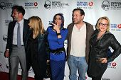 LOS ANGELES - APR 8:  David ,Rosanna, Alexis, Richmond, and Patricia Arquette at the Indian Film Fes