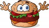 Hamburger Cheeseburger Cartoon