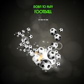 football poster, easy editable