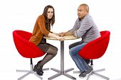 picture of rude  - rude interracial couple on a bad date - JPG