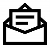 Message in envelope vector icon