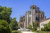 Tomar, Portugal - July 18, 2013: Templar Convent of Christ in Tomar, Portugal. One of the most impor