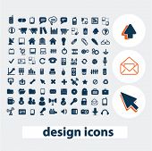 web design icons, signs, elements set, vector