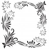 Vintage floral elements vector design