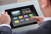 Businessperson Holding Digital Tablet