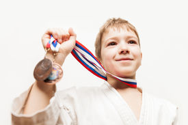 pic of gold medal  - Martial art sport success and win concept  - JPG