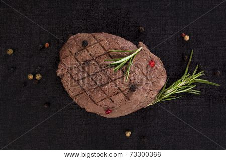 Steak On Lava Rock