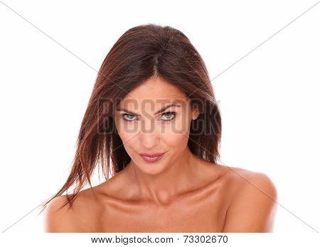 Seductive Adult Female Looking At Camera