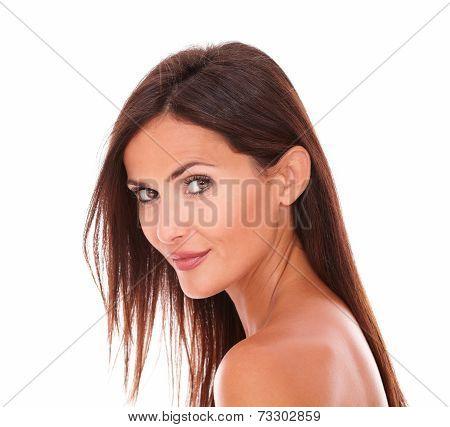 Pretty Adult Woman Smiling At Camera