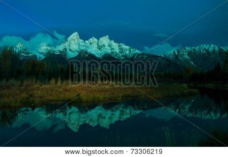 Twilight on the Teton Peaks