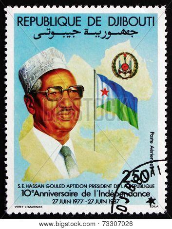 Postage Stamp Djibouti 1987 President Hassan Gouled Aptidon