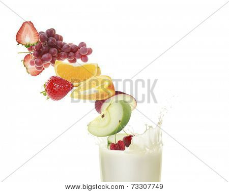 Healthy refreshment sweet and milkshake