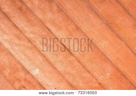 Close-up Of Teak Wood Plank Texture