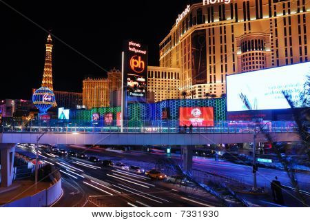 Las Vegas Street Night Scene