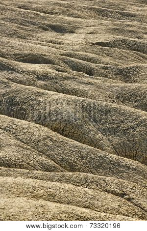 Mud volcanoes landscape