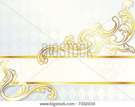 Beautiful horizontal rococo wedding banner