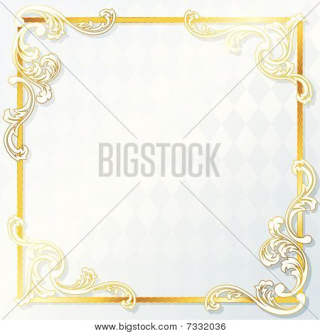 Beautiful rococo wedding frame