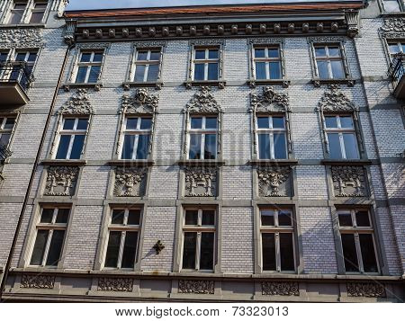 Facade of Art Noveau tenement
