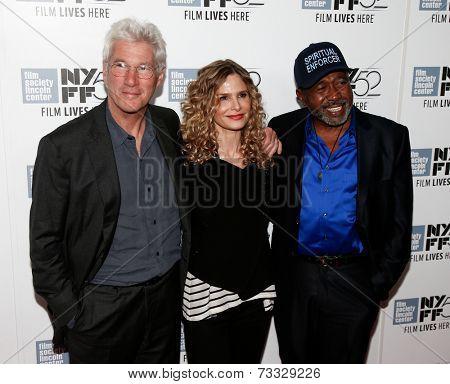NEW YORK-OCT 5: (L-R) Actors Richard Gere, Kyra Sedgwick & Ben Vereen attend the