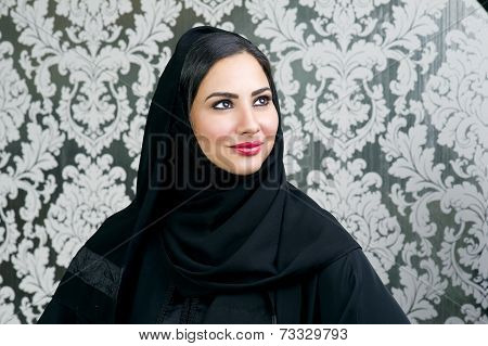 Portrait of a Beautiful Arabian Woman smiling
