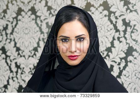 Portrait of a Beautiful Arabian Woman smiling