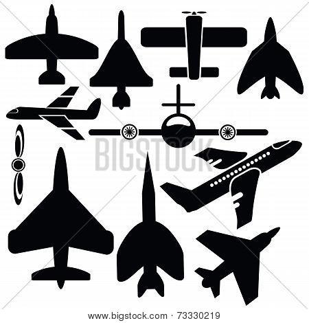 Silhouettes Airplane