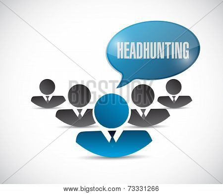 Headhunting Team Illustration