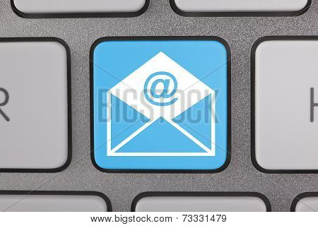 E-mail Envelope in a Computer Key