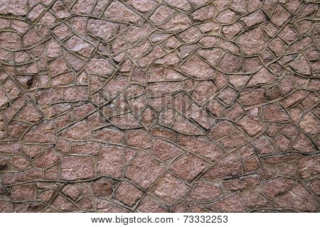 Red Granite Stonework Background