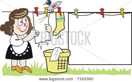 Funny housewife cartoon
