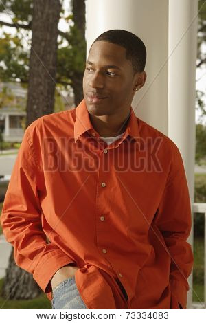 African man with hand in pocket