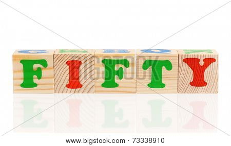 Cubes with letters
