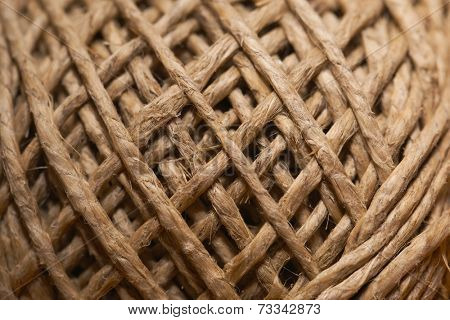 A clew of hemp string isolated on white
