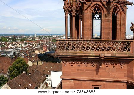 View of Basel and Munster, Switzerland