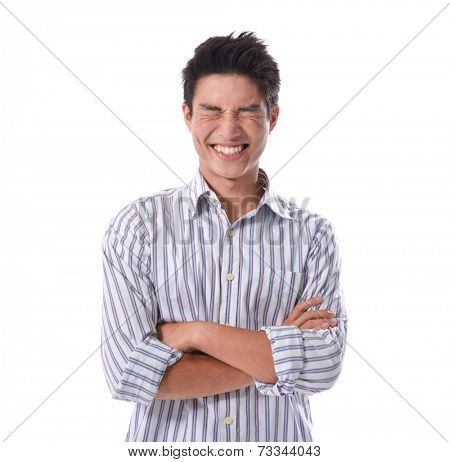 Cheerful young man, isolated