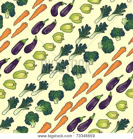 seamless pattern of vegies