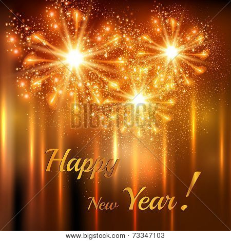 Happy New Year celebration background, easy editable