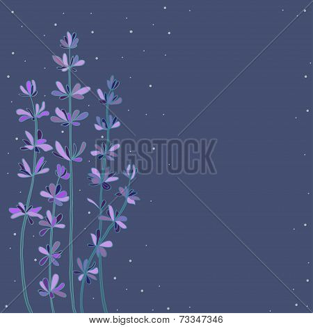 frame with abstract lavander