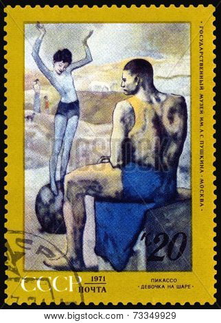 Vintage  Postage Stamp. Picture Picasso